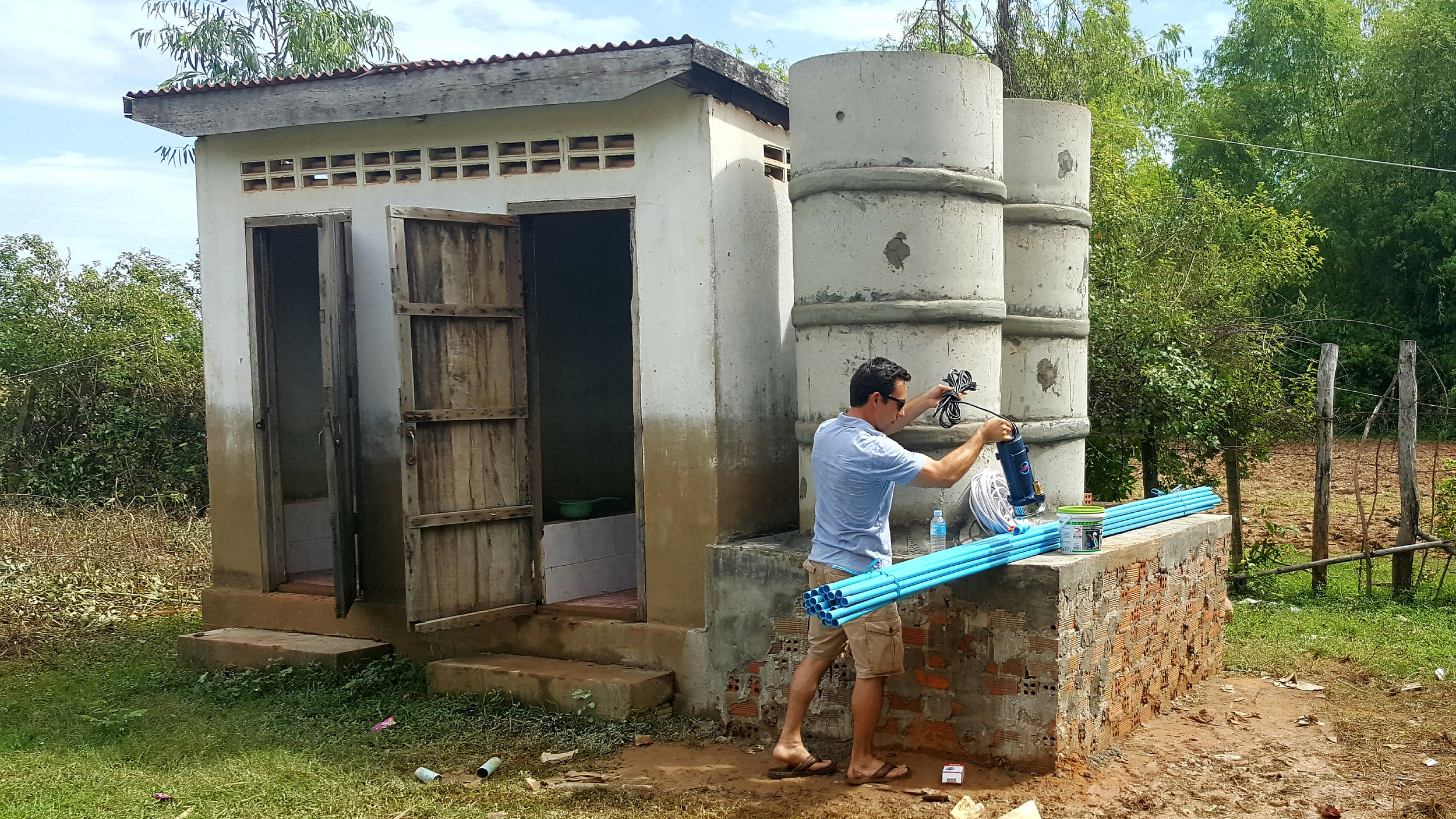 Built 2 Water Storage Tanks