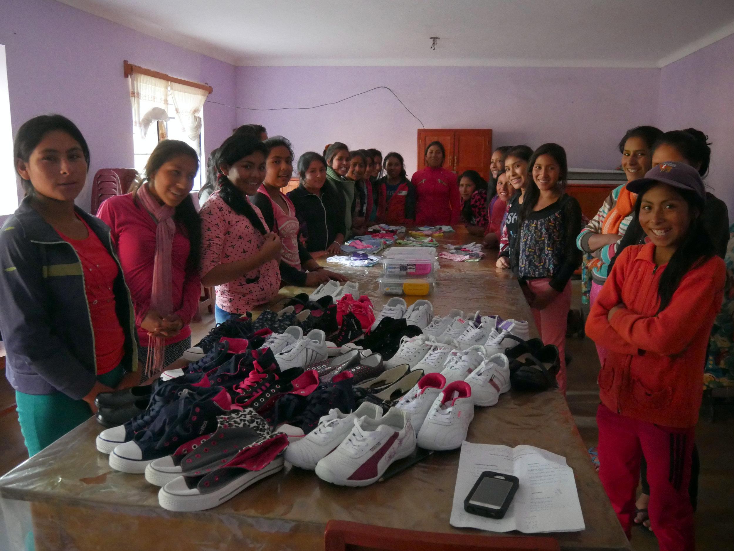 Took 24 Village Girls Shoe Shopping