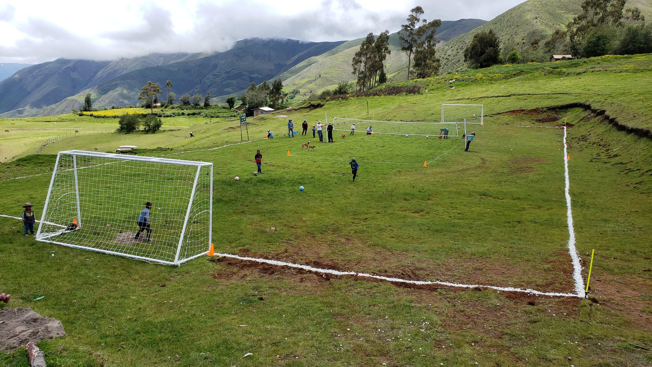 Soccer Field, Volleyball Court & Sandbox