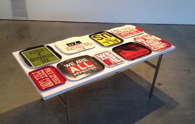 Workers' Protest Platters  Installation view at Showroom Gowanus