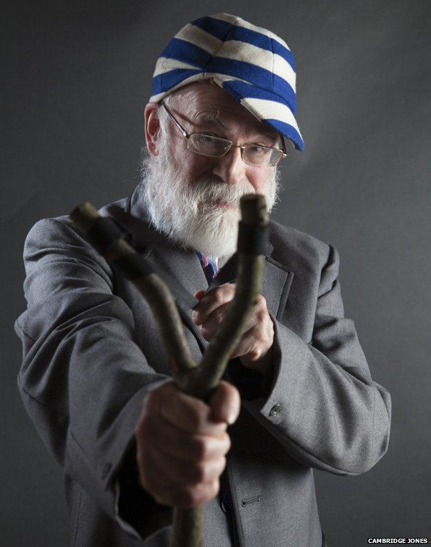 From the exhibit: Terry Pratchett as Just William
