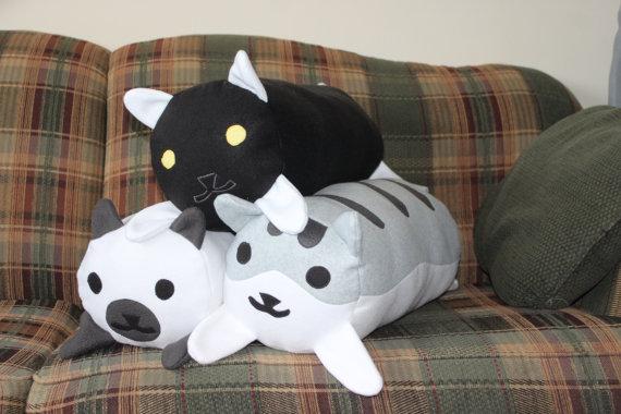 Neko Atsume log pillows
