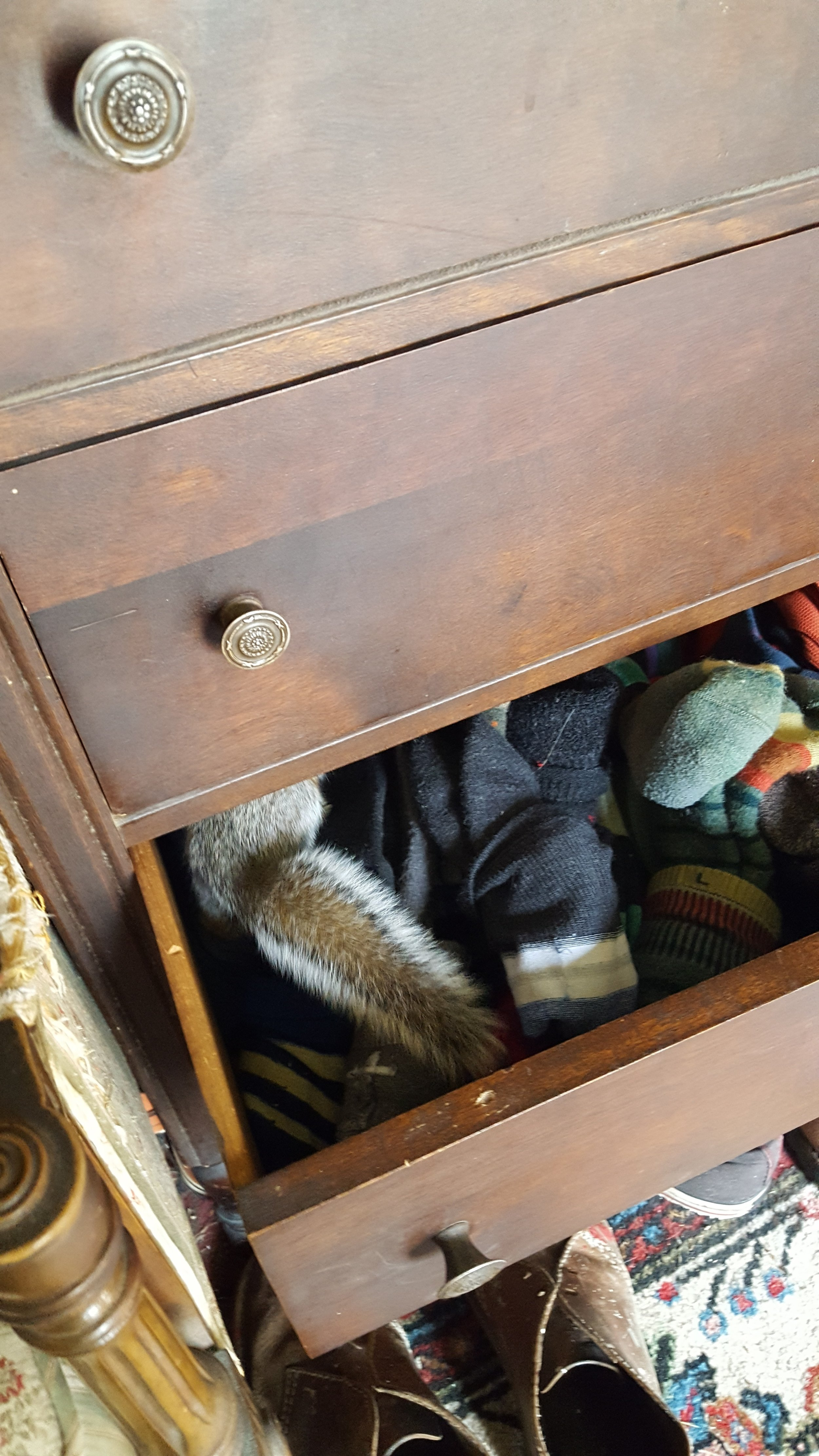 Always with the sock drawer.