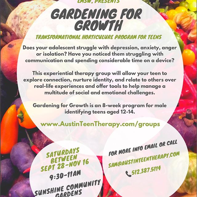 Goooood morning ya'll!! Stoked to announce that enrollment is open for the first #gardeningforgrowth group starting September 28th! Please tag people below, and don't hesitate to ask any questions you may have! Cheers :)