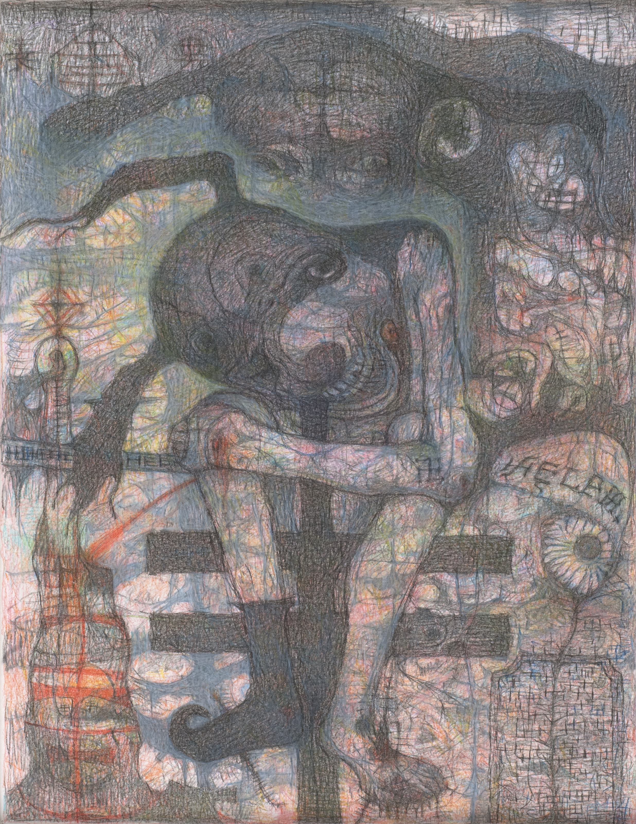 M'onma Untitled, 2013 Colored pencil on paper  /  15.55 x 12.01 inches (39.5 x 30.5 cm)  /  IMo 48