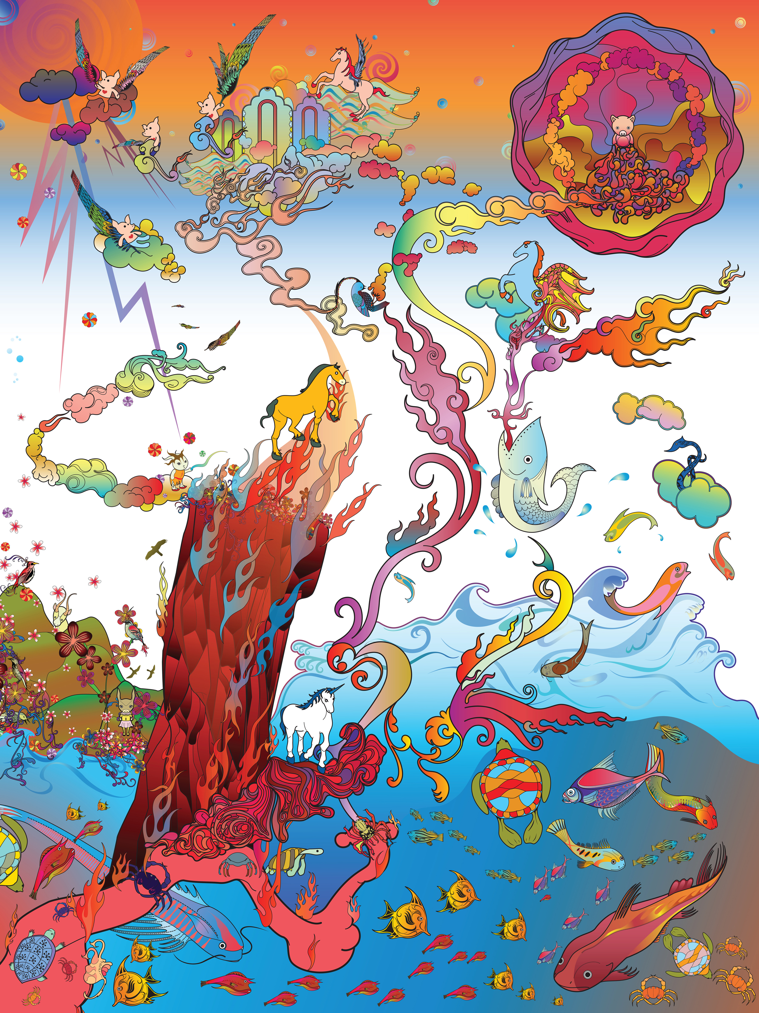 Heung-Heung Chin The Awakening of the Empyrean Dominion, 2006 C-print 40 x 30 inches  /  101.6 x 76.2 cm  /  HeC 1