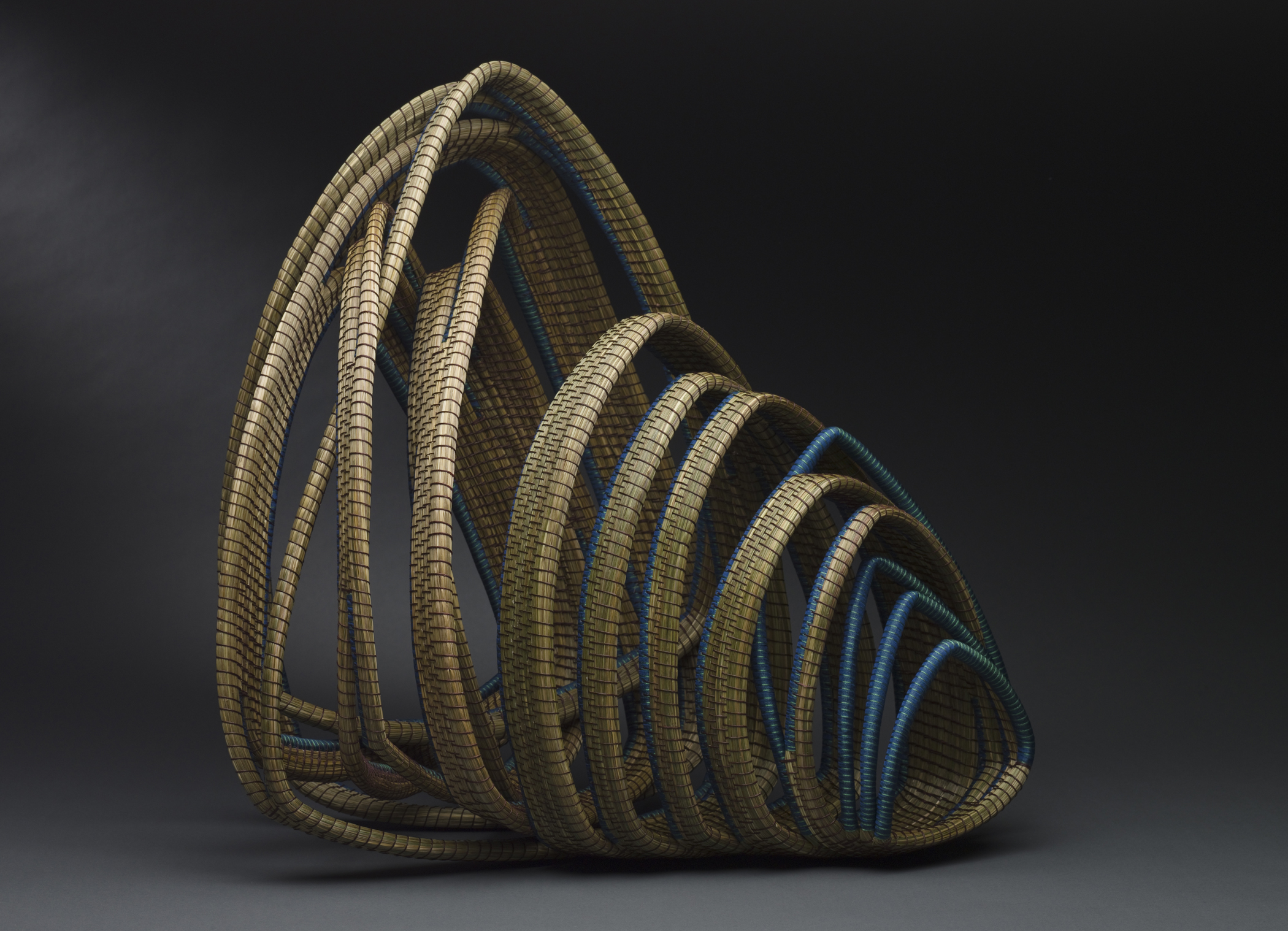 Debora Muhl Cathedral, 2008 Sweet grass, waxed linen, rayon ribbons 20 x 17 x 15 inches / 50.8 x 43.2 x 38.1 cm / DMu 1