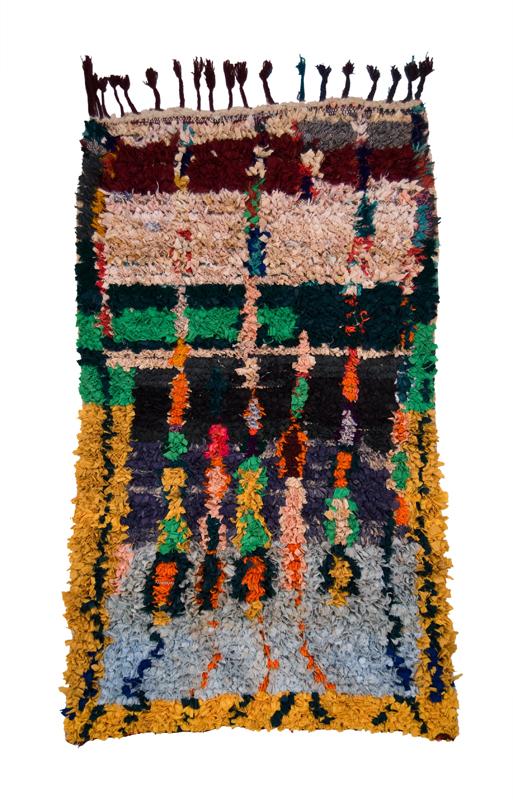 Morocco Boucherouite, Late 20th C Rag 63 x 31.5 inches / 160 x 80 cm / Mor 62