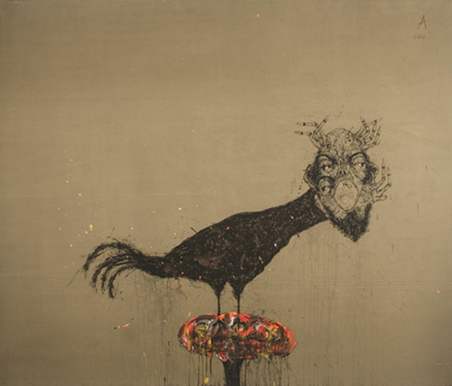 Sabhan Adam No.31 (1467), 2006 Mixed Media on Canvas 69 x 62 inches / 175.3 x 157.5 cm / Sab 27