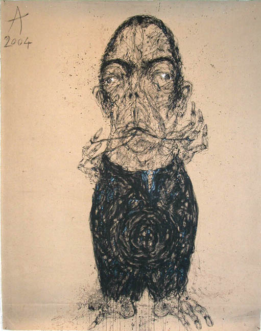 Sabhan Adam Untitled, 2004 Oil, mixed media/canvas 36.5 x 28.75 in / 92.7 x 73.0 cm / Sab 16