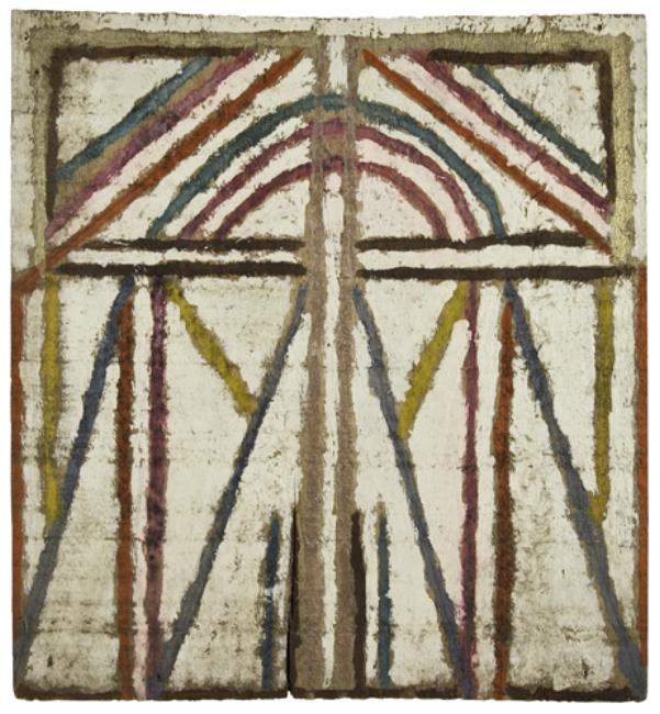 Emery Blagdon Untitled # 713 , c.1954-1986 Enamel/Board 12.5 x 11.5 inches / 31.8 x 29.2 cm / EmB 713