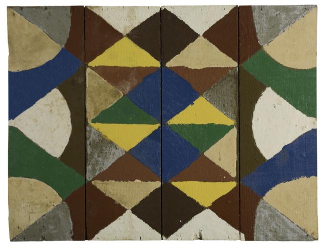 Emery Blagdon Untitled # 734, c.1954-1986 Enamel/ Board 23 x 18 inches / 58.4 x 45.7 cm / EmB 734