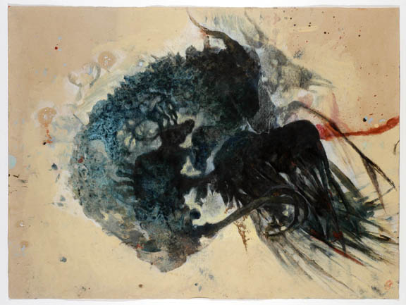 Christine Sefolosha ...of Horns and Feathers, 2001 Oil, graphite/paper 29 x 39 in / 73.7 x 99.1 cm / CSe 45