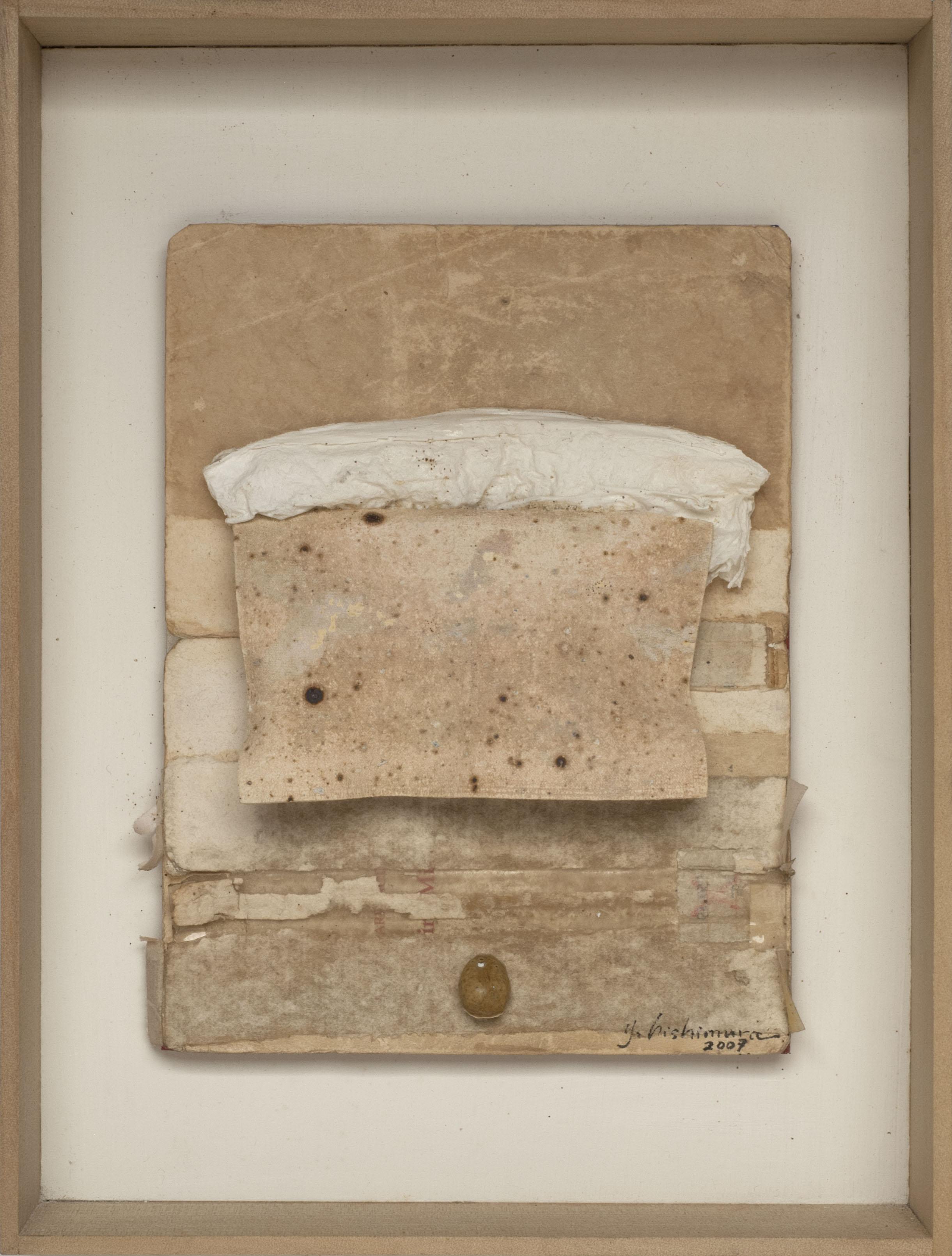 Yohei Nishimura    Museum Catalog - Lost and Found  , 2007 Fired books 9 x 6.5 x 1.5 inches / 22.9 x 16.5 x 3.8 cm / YN 142