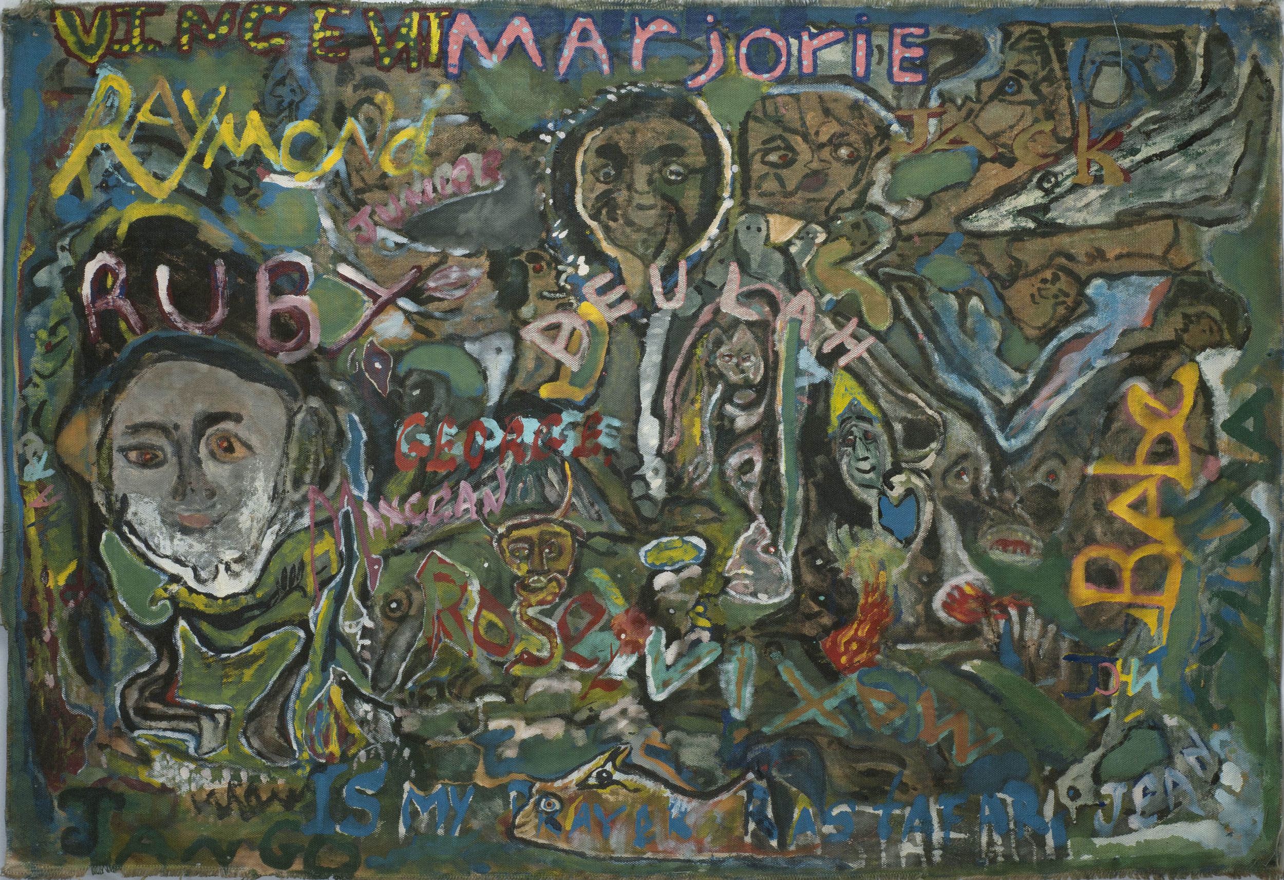 Leonard Daley    Marjorie  , 1994 Mixed media/canvas 26.5 x 38 inches  /  67.3 x 96.5 cm  /  LE  42