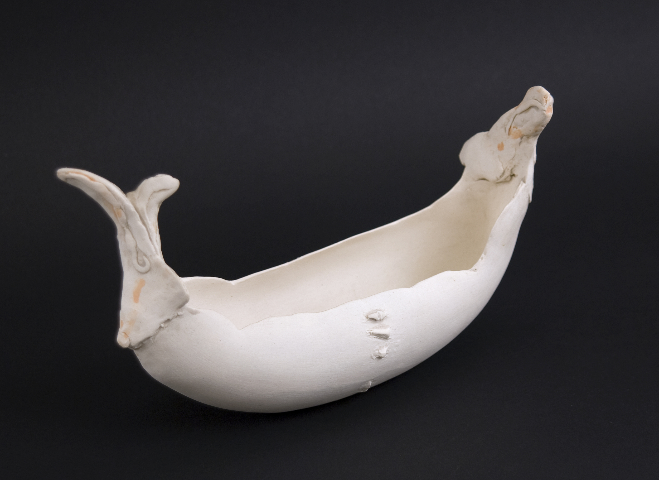 Kyoko Hori    Object- Rabbit with Signed Wooden Box  , 2003 Porcelain 9 x 3 x 5 inches / 22.9 x 7.6 x 12.7 cm / KYH 3