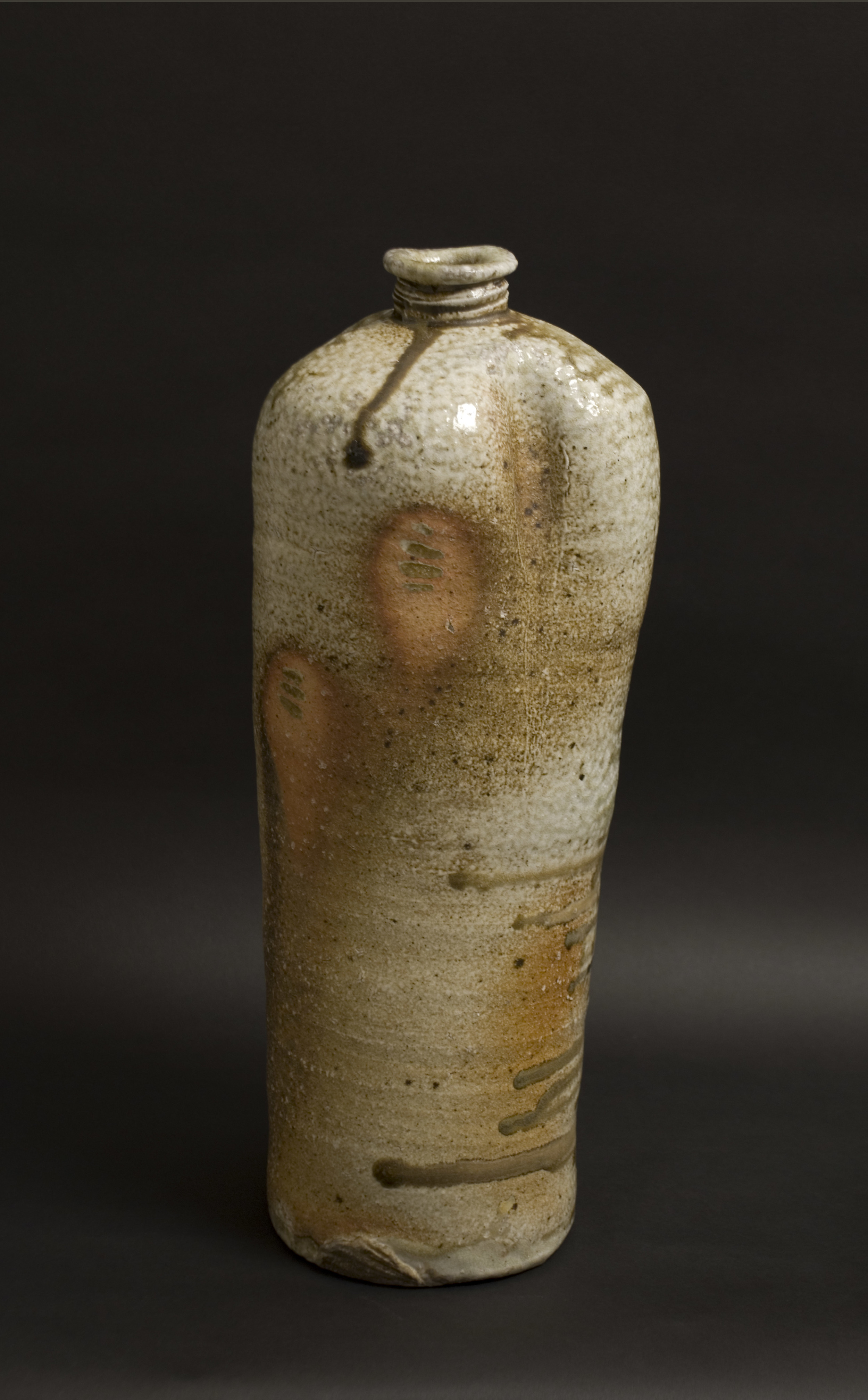Owen Rye    Tall Bottle  , 2008 Woodfired Stoneware 17 x 7 x 7 inches  /  43.2 x 17.8 x 17.8 cm  /  OWR 1