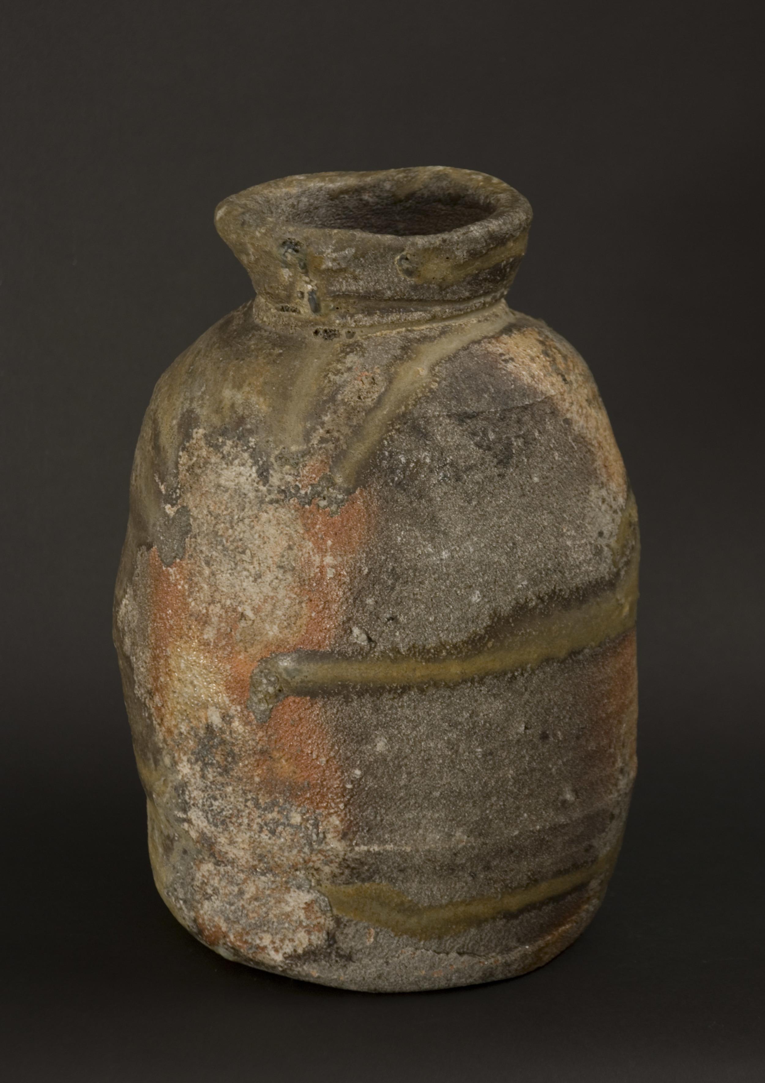 Owen Rye    Bag Form   , 2008 Woodfired stoneware 10 x 6 x 6 inches / 25.4 x 15.2 x 15.2 cm / OWR 2