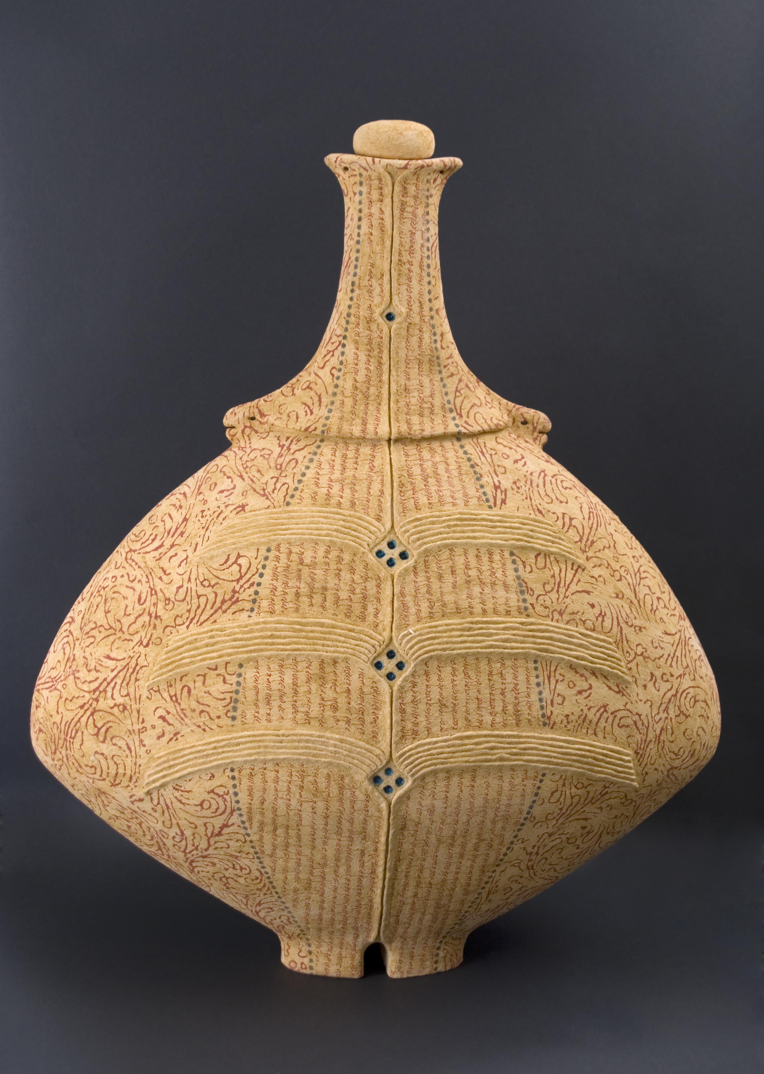 Avital Sheffer    Adamah IV  , 2010 Handbuilt earthenware 26.77 x 21.65 x 10.63 inches / 68 x 55 x 27 cm / ASh 1