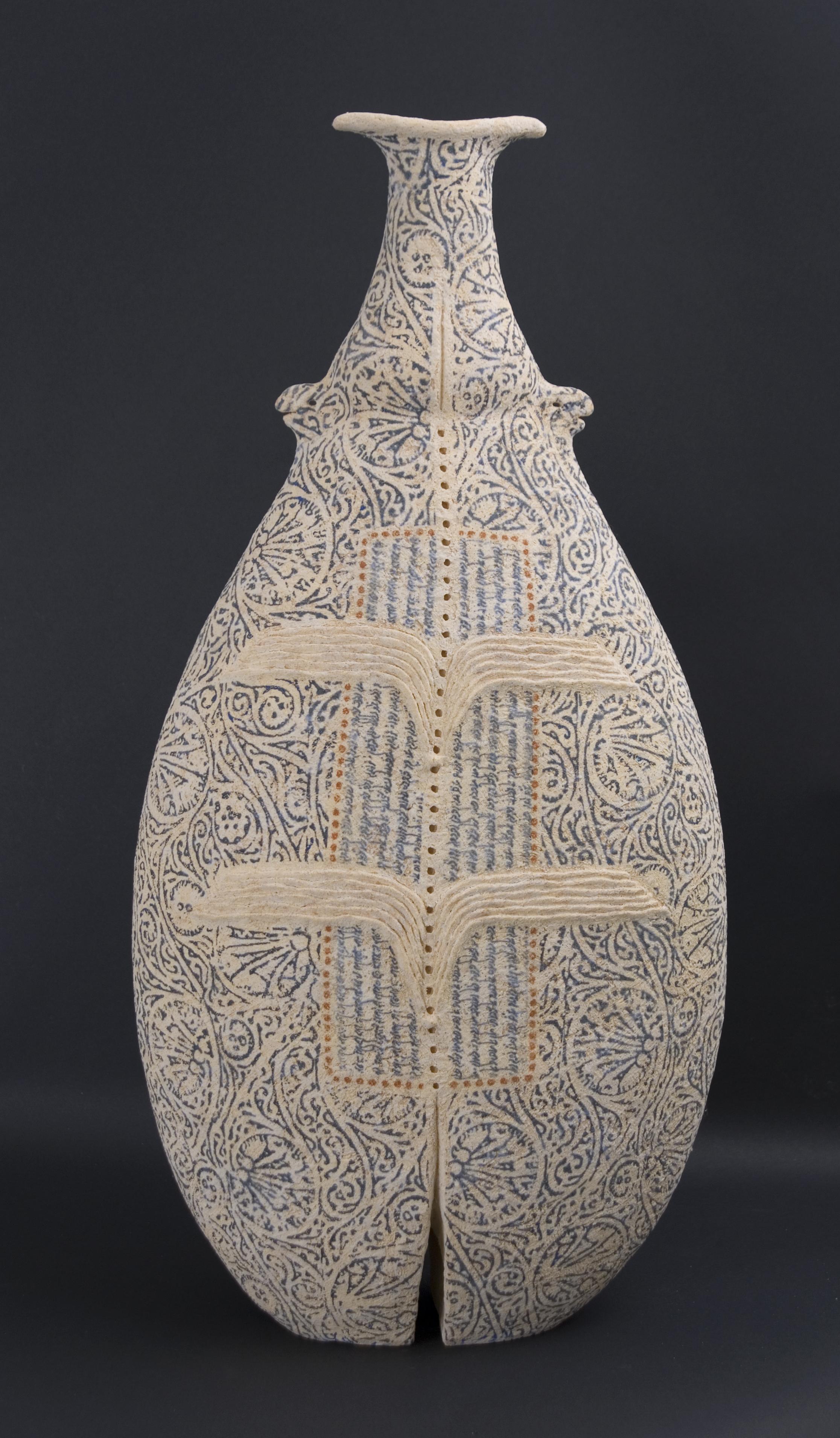 Avital Sheffer    Inannah V  , 2009 Handbuilt earthenware 26.77 x 12.99 x 7.09 inches / 68 x 33 x 18 cm / ASh 2
