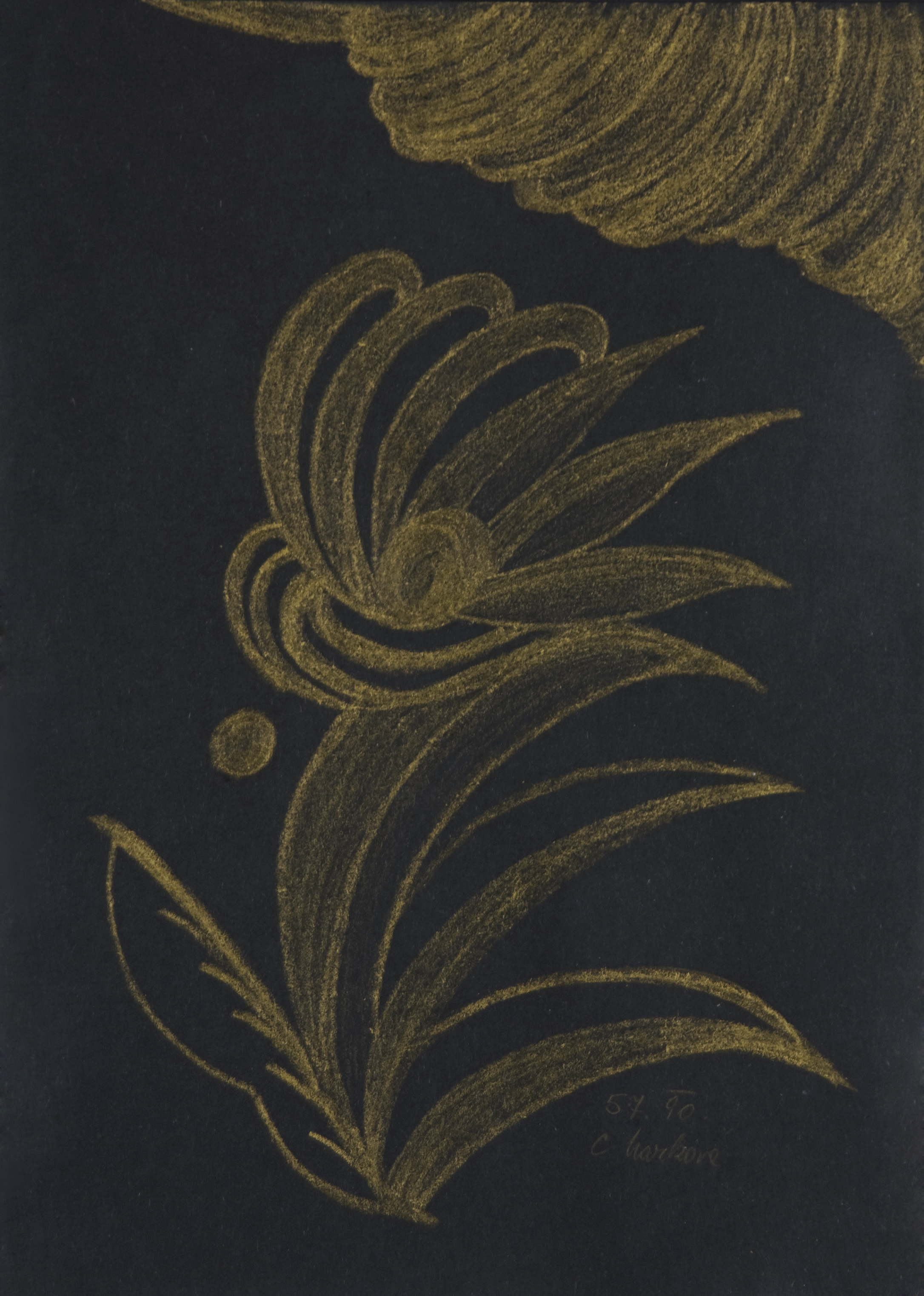 Cecilie Markova    Untitled  , 1990 Pastel/paper 12 x 8.5 inches / 30.5 x 21.6 cm / CMa 3