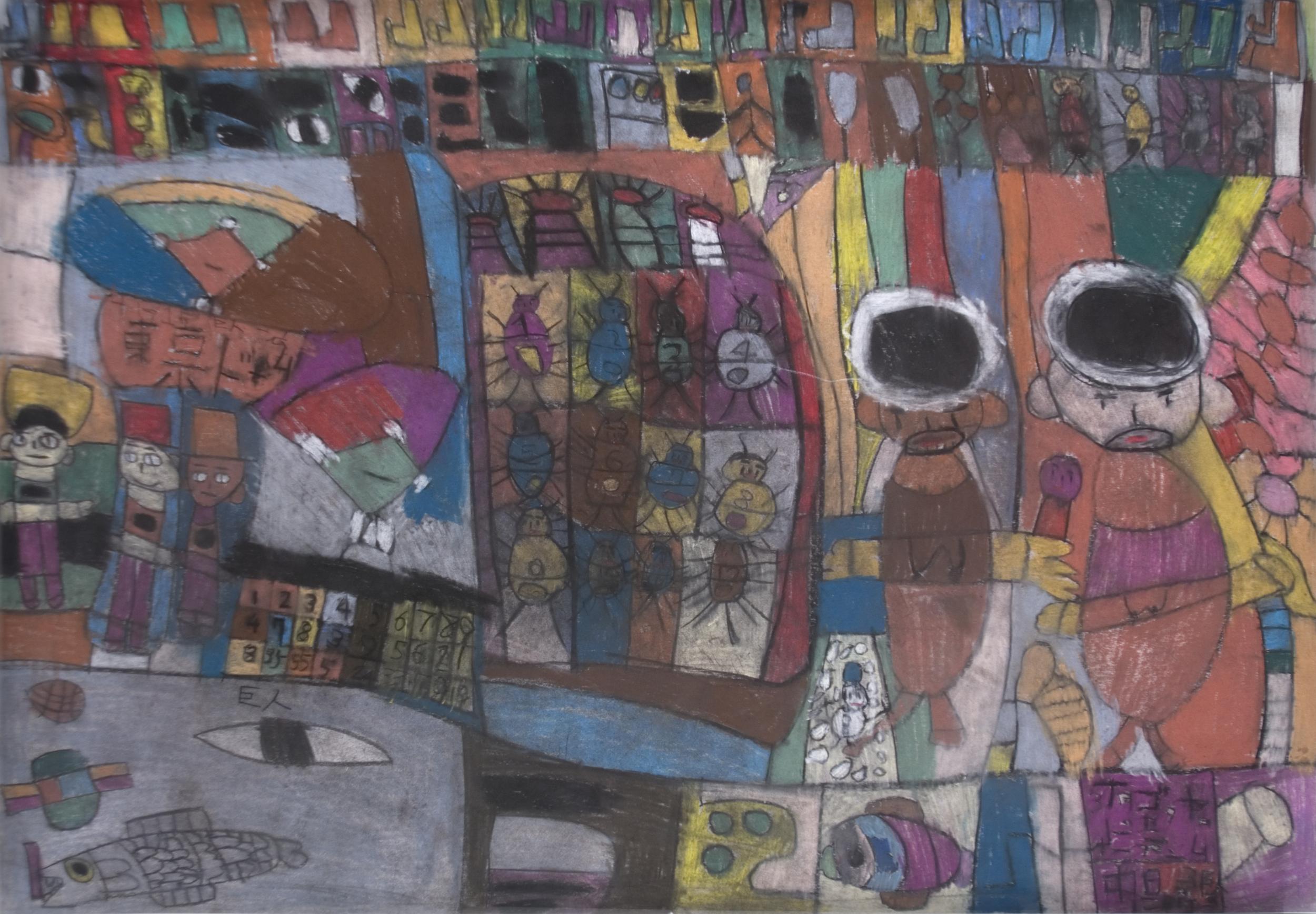 Yukio Miyashita    Untitled  , 1999 Pastel/Paper 42.75 x 30.25 inches / 108.6 x 76.8 cm / YMi 14