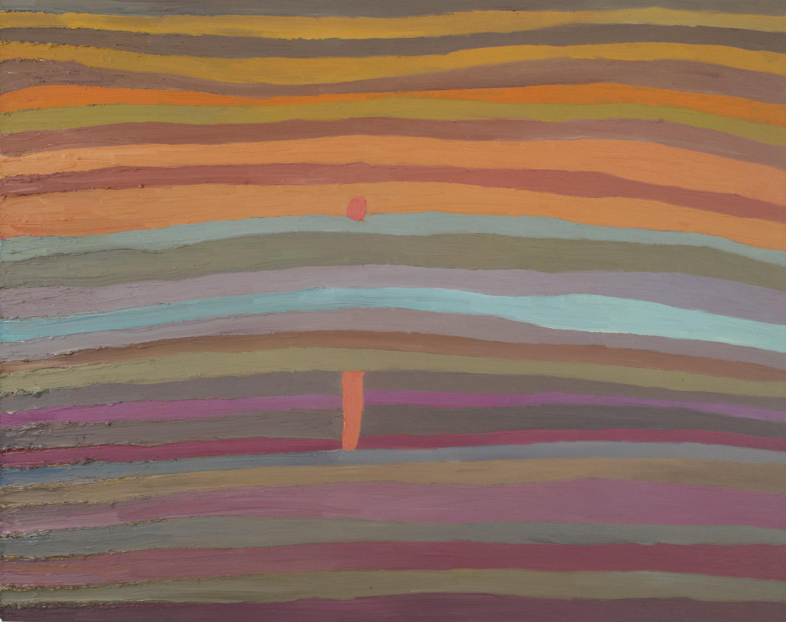 Takurou Shirai    Sunrise  , 2011 Oil on canvas 28.43 x 35.83 inches / 72.2 x 91.0 cm / TSh 1