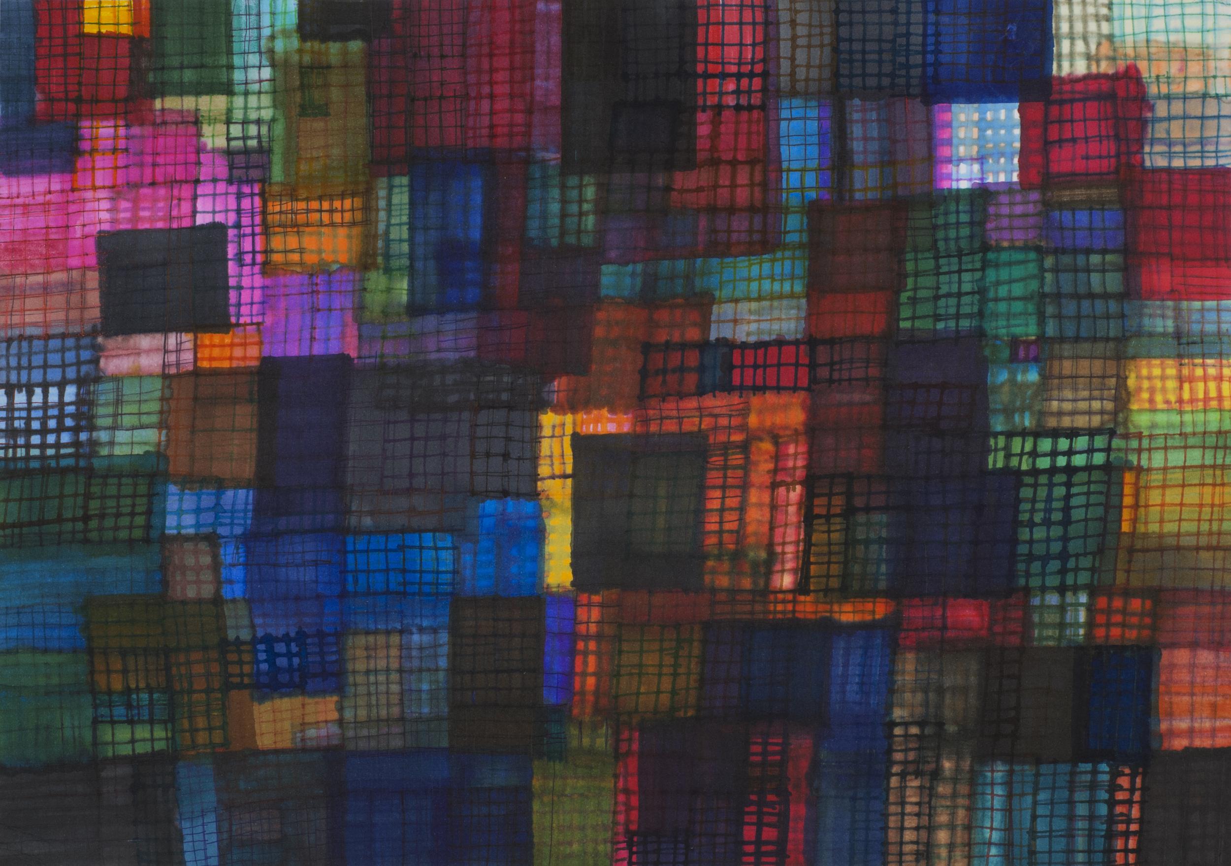 Yuka Yamane    Mosaic  , 2010 Pen and paper 10.51 x 14.84 inches / 26.7 x 37.7 cm / YYam 2