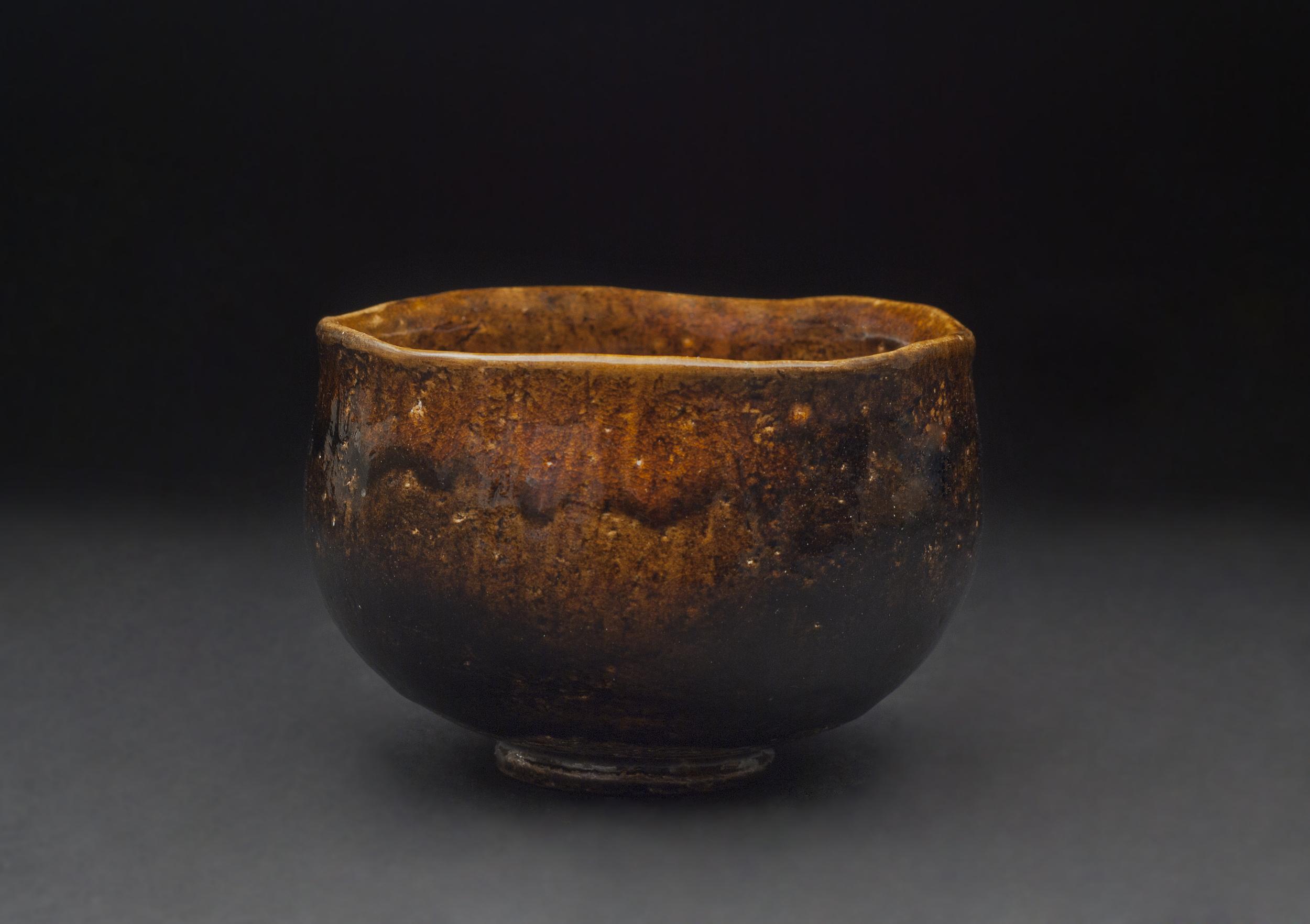 Toshio Ohi    Ohi Amber Raku Tea Bowl  , 2011 Ceramic 3.25 x 4.75 inches / 8.3 x 12.1 cm / TOh 2