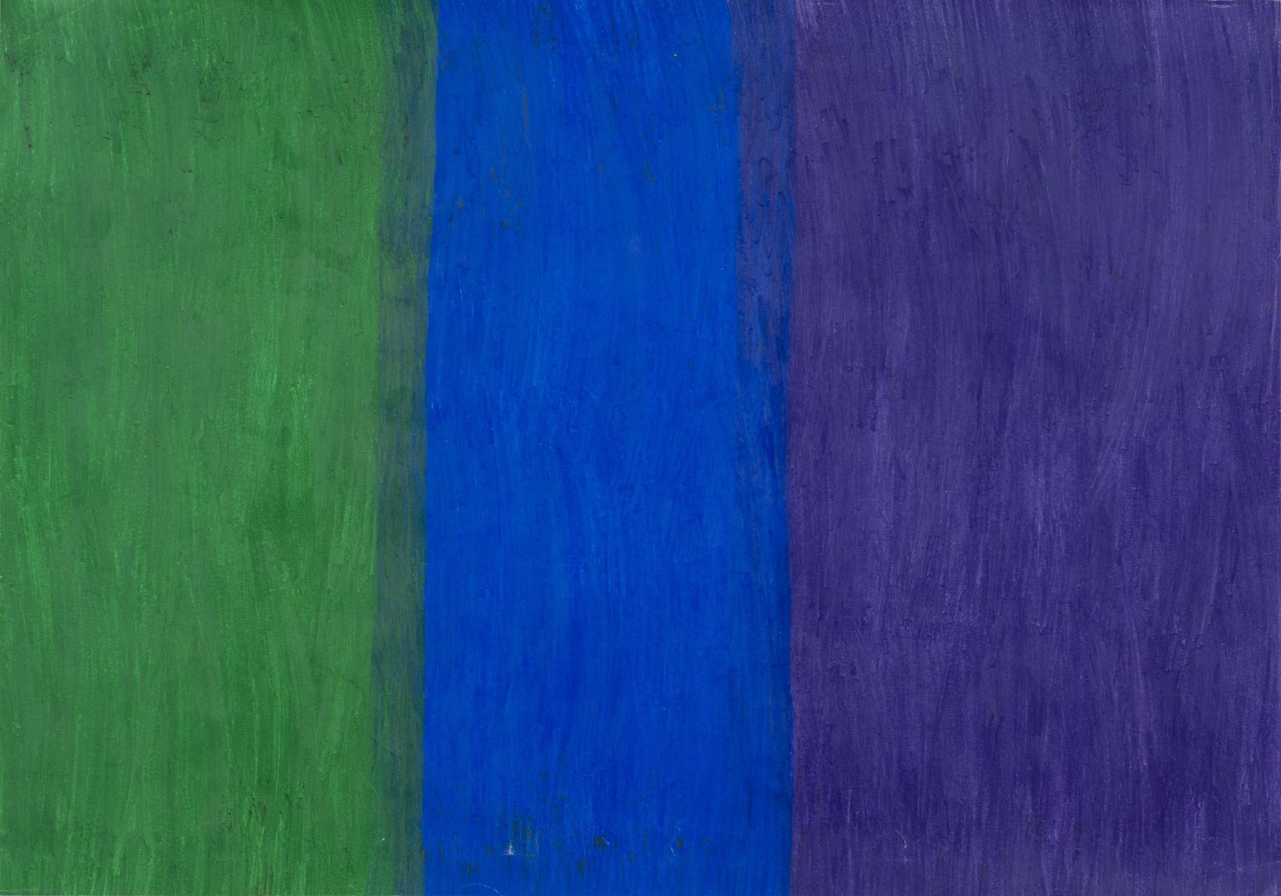Hidetaka Kaji    Green, Blue and Purple  , 2011 Colored pencil, paper 15.35 x 21.26 inches / 39 x 54 cm / HKaj 3