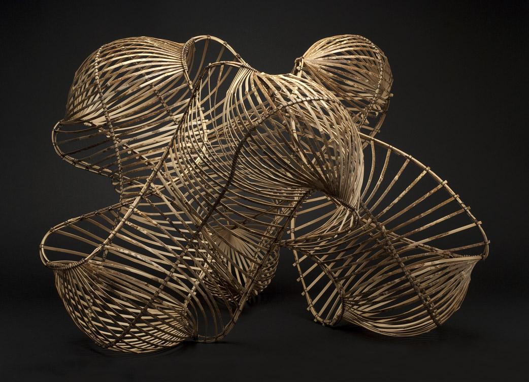 Charissa Brock    Adagio  , 2012 Bori bamboo, waxed linen thread 33 x 31 x 24 inches 83.8 x 78.7 x 61 cm CBr 7
