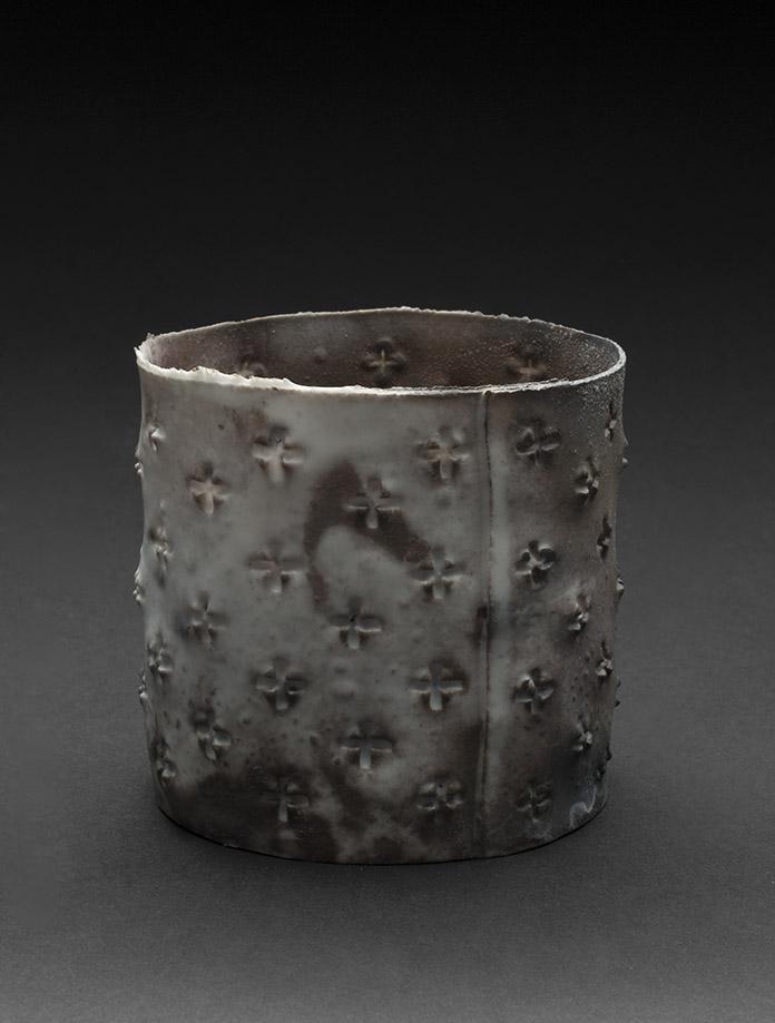 Deirdre Hawthorne    Before Life XIII  , 2010 Saggar fired porcelain 3 x 3.5 x 3.5 inches 7.6 x 8.9 x 8.9 cm DH 9