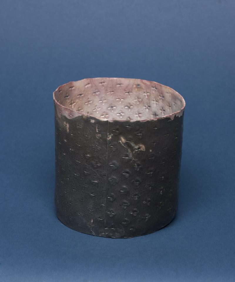 Deirdre Hawthorne    Out of the Sun I  , 2010 Saggar fired porcelain 4.5 x 4.25 x 4 inches 11.4 x 10.8 x 10.2 cm DH 14