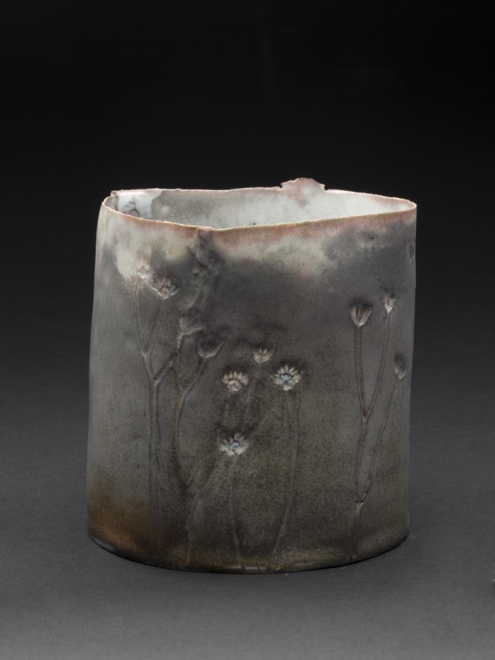 Deirdre Hawthorne    Lifted  , 2011 Glazed and saggar fired porcelain 4.5 x 4.5 inches 11.4 x 11.4 cm DH 23