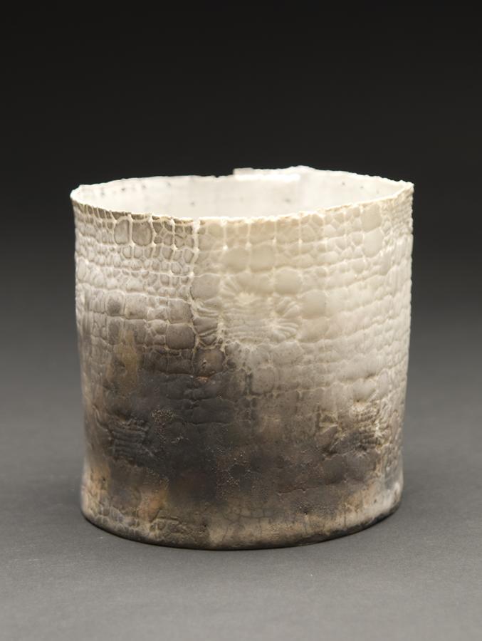 Deirdre Hawthorne    January Ash  , 2011 Glazed and saggar fired porcelain 3.5 x 3.75 inches 8.9 x 9.5 cm DH 24