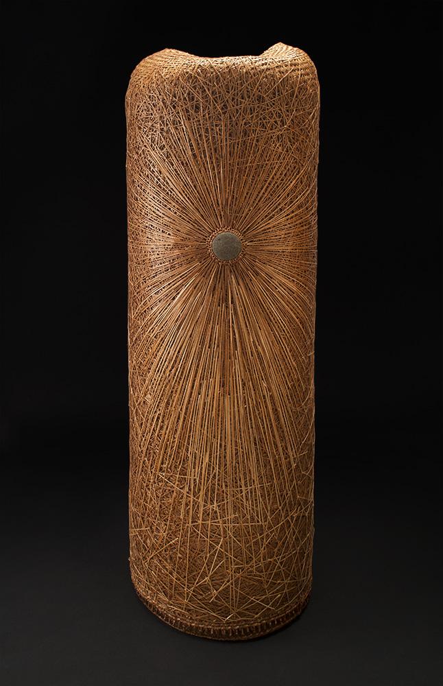 Dawn Walden    Random Order Radiate  , 2014 Cedar bark and cedar roots 45 x 16 x 16 inches 114.3 x 40.6 x 40.6 cm DWa 3