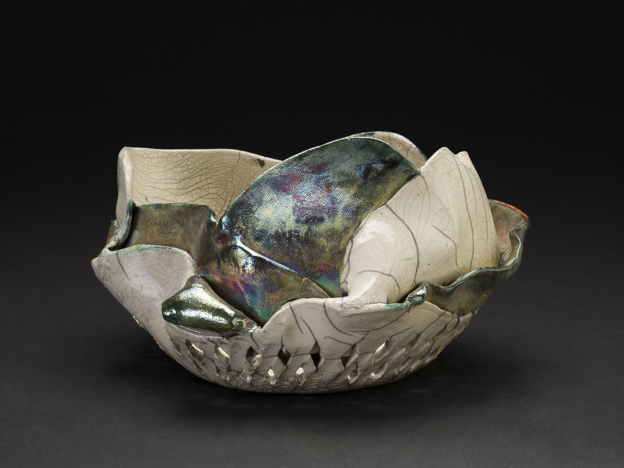 Nancy Brorby    Untitled  , c. 1992-2004 Ceramic 10 x 11 x 6.5 inches 25.4 x 27.9 x 16.5 cm NBr 6