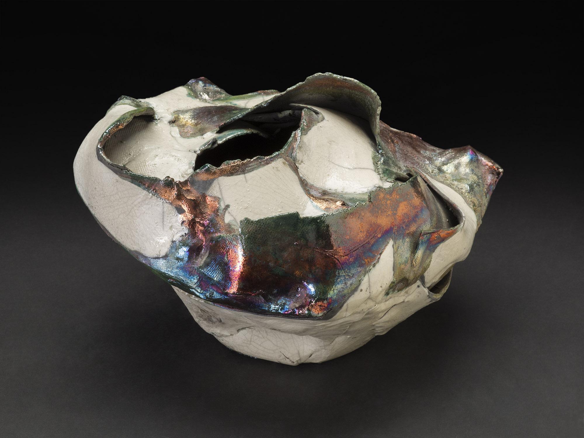 Nancy Brorby    Untitled  , c. 1992-2004 Ceramic 11 x 10.5 x 7 inches 27.9 x 26.7 x 17.8 cm NBr 8