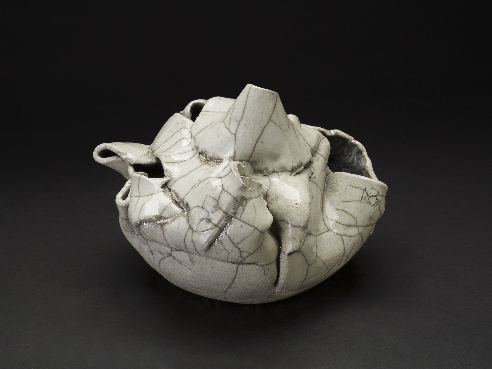 Nancy Brorby    Untitled  , c. 1992-2004 Ceramic 9 x 10 x 8 inches 22.9 x 25.4 x 20.3 cm NBr 9