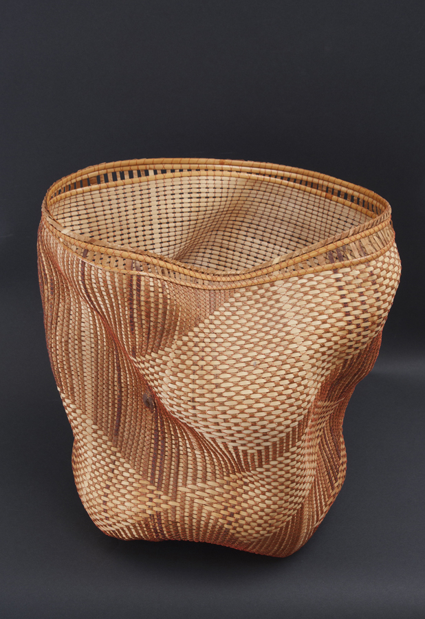 Polly Adams Sutton    Dale  , 2009 Cedar bark, ash, cane, wire woven and twisted 12.5 x 9 x 13 inches 31.8 x 22.9 x 33 cm PAS 2