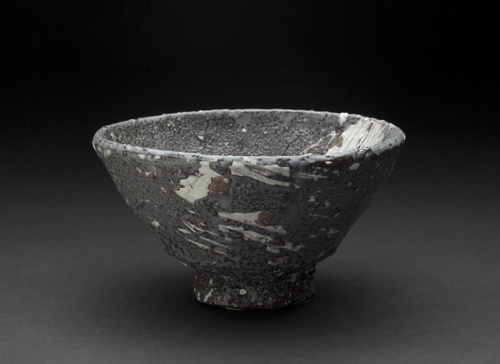 Touri Maruyama    Hakeme Chawan  , 2012 Ceramic, Red Mino clay 3.5 x 6.5 inches 8.9 x 16.5 cm TMar 9