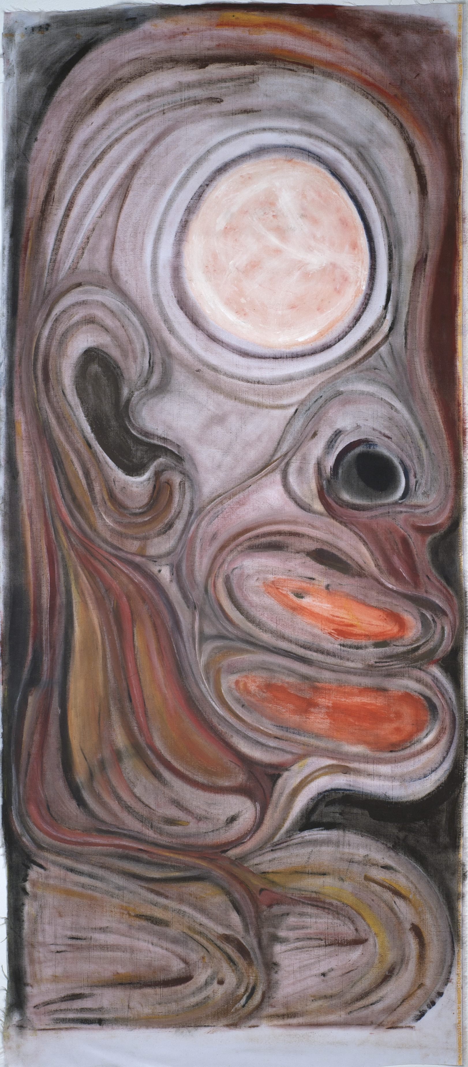 Errol McKenzie    Black Mother Rising  , 2007 Oil on linen 64.25 x 29 inches 163.2 x 73.7 cm EMc 8