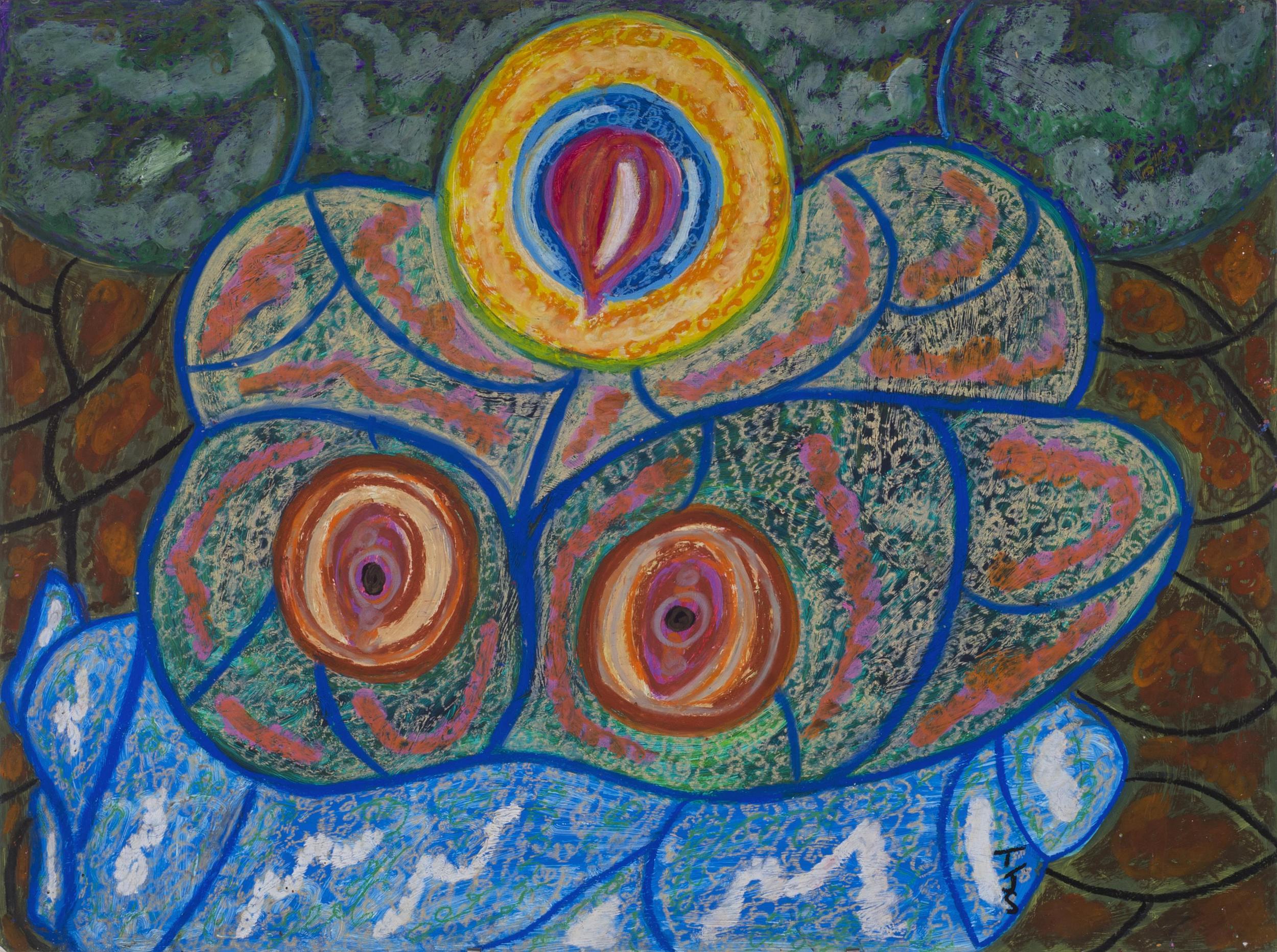 Anthony Joseph Salvatore    Psalms 30, v.2  , 1994 Oil stick, acrylic/illustration board 40 x 30 inches 101.6 x 76.2 cm JS 322
