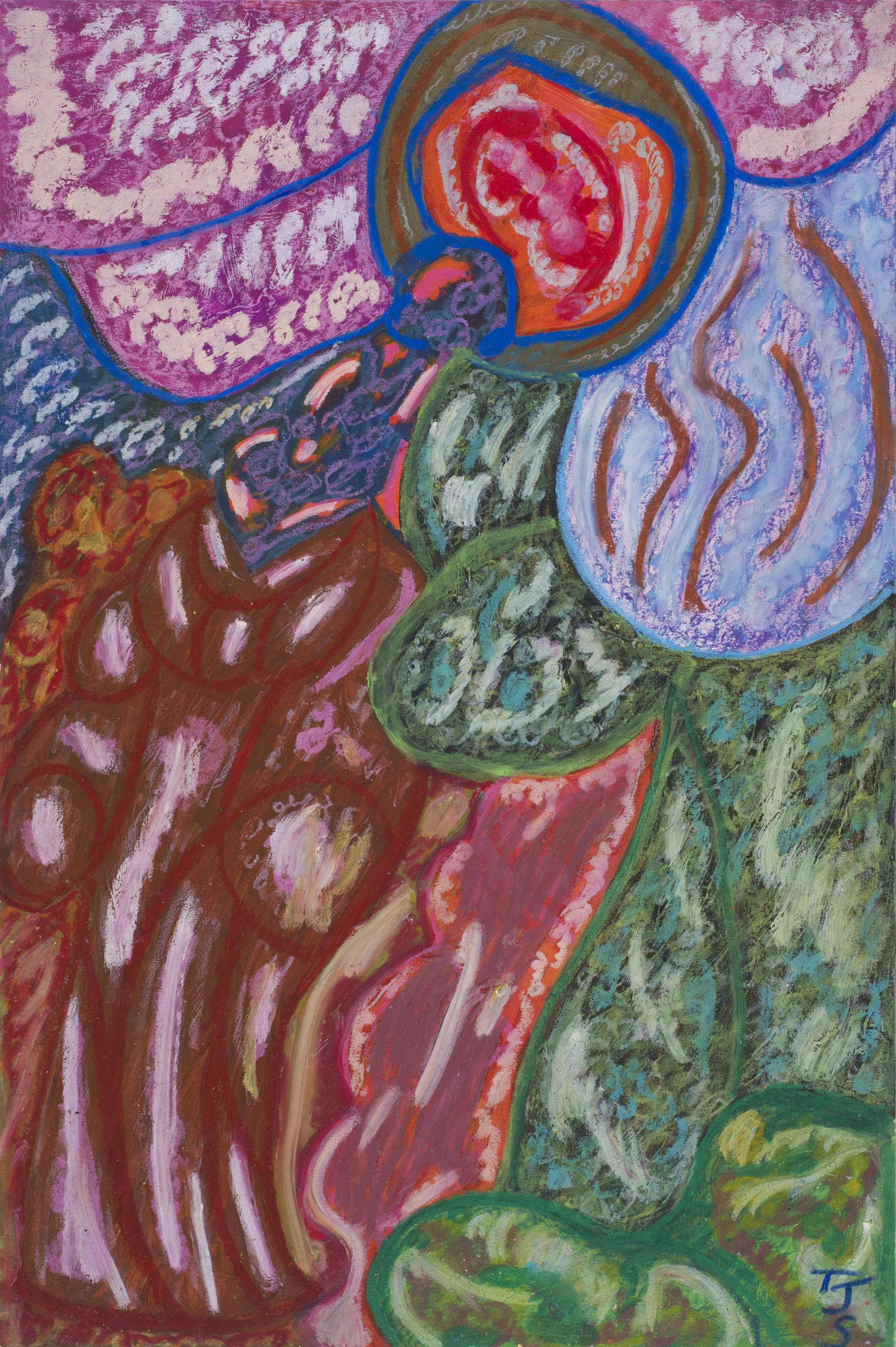 Anthony Joseph Salvatore    Psalms 138, v. 5  , 1993 Oil stick, acrylic/illustration board 30 x 24 inches 76.2 x 61 cm JS 483