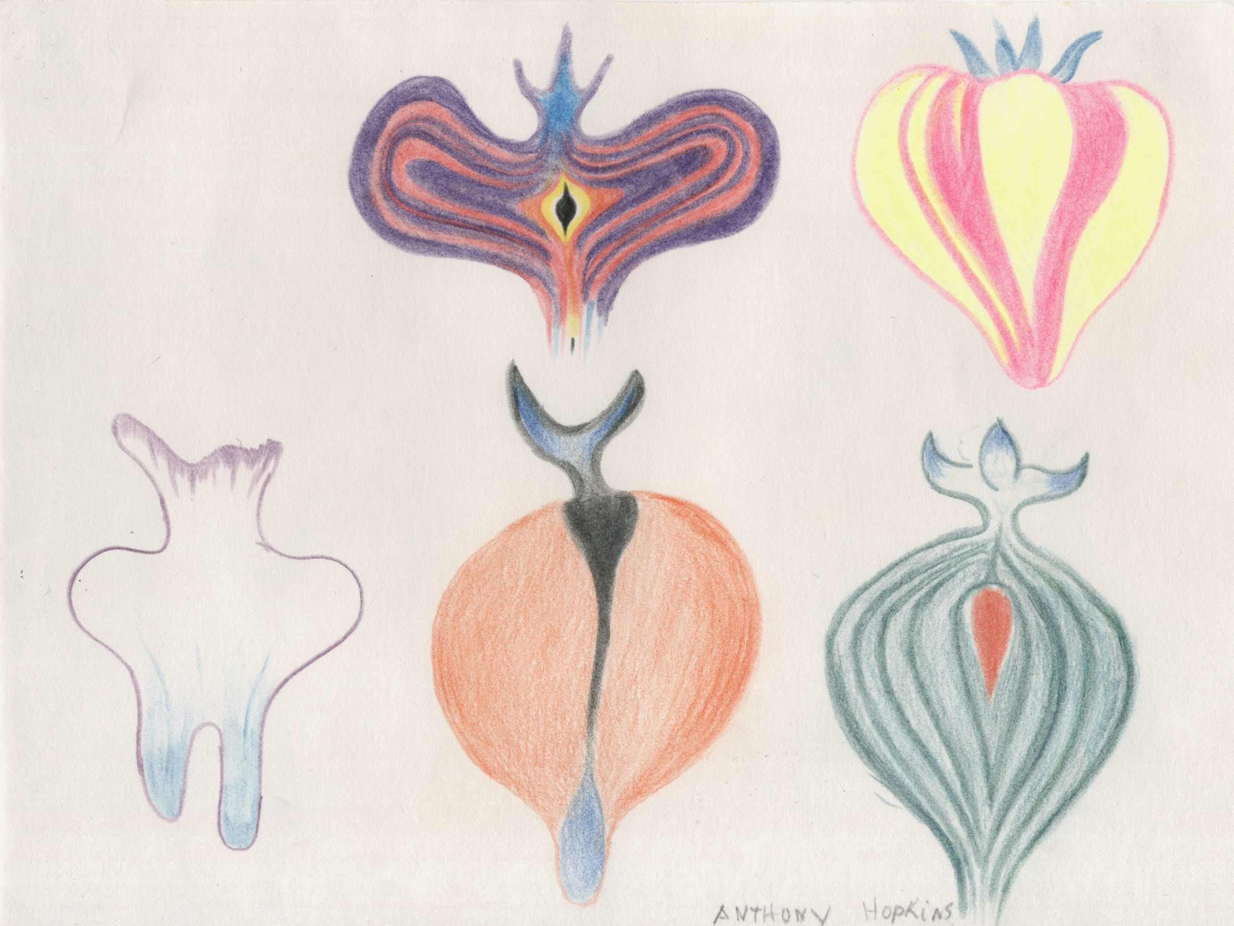 Anthony Hopkins    Wizard Lights in Solstice, I (92)  , 1998 Colored pencil/paper 7 x 9.5 in (17.8 x 24.1 cm) AH 44