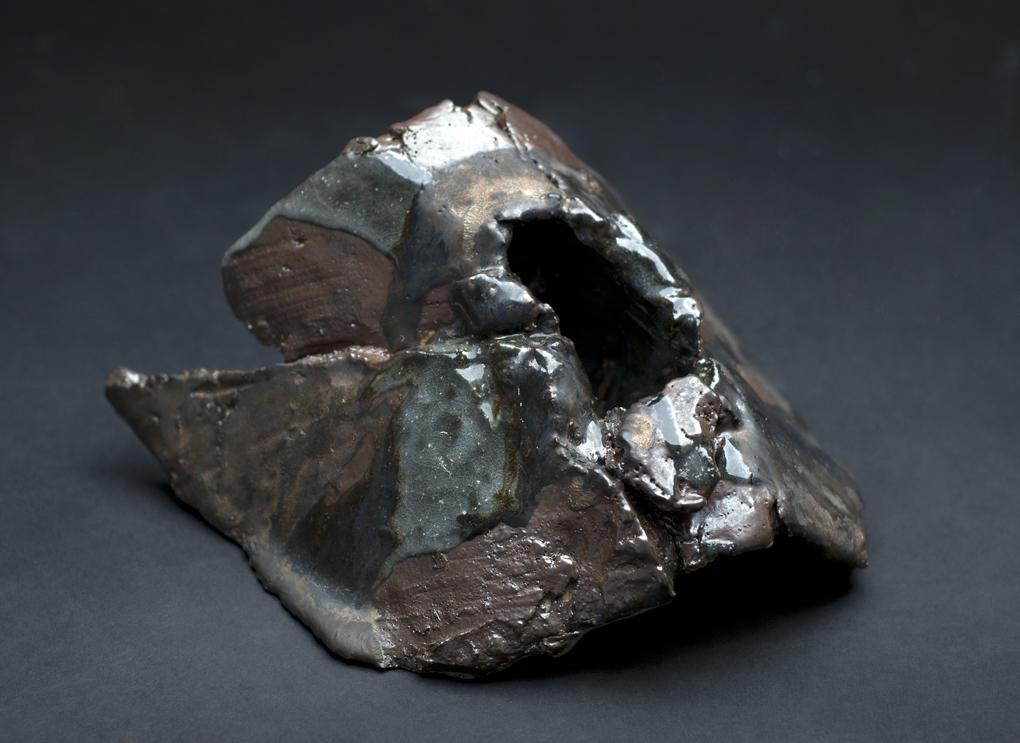 Jeff Shapiro    Large Brown Organic Vessel  , 2012 Ceramic 4.5 x 7 x 8 inches 11.4 x 17.8 x 20.3 cm JSh 45