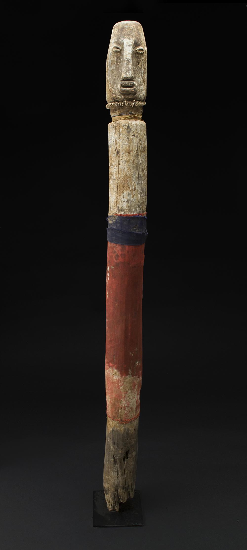Africa    Bocio - Adan/Ewe People - Togo  , 1970 Wood 58 x 4.5 x 4.5 inches 147.3 x 11.4 x 11.4 cm Af 284