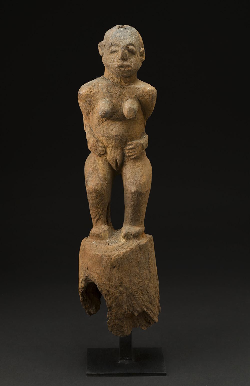 Africa    Bocio - Nago People - Benin  , Mid. 20th C. Wood 26.5 x 6.5 x 6 inches 67.3 x 16.5 x 15.2 cm Af 290