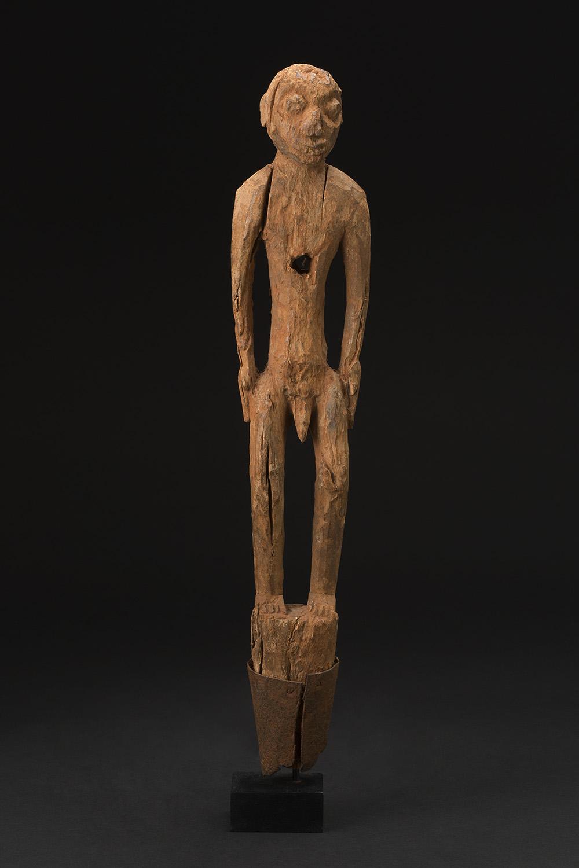 Africa    Bocio - Fon People - Benin  , Mid. 20th C. Wood 23 x 4.5 x 2.5 inches 58.4 x 11.4 x 6.4 cm Af 298