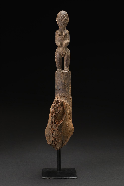 Africa    Bocio - Fon People - Benin  , Mid. 20th C. Wood 22.5 x 4 x 6 inches 57.2 x 10.2 x 15.2 cm Af 299